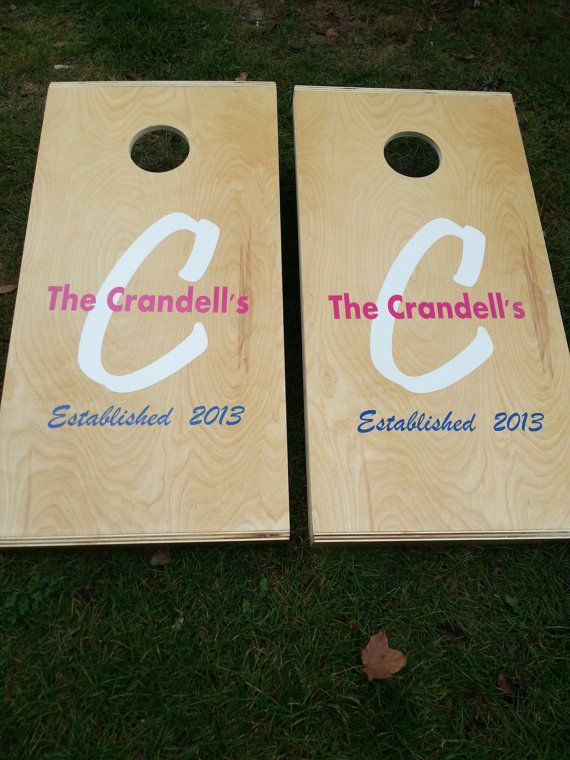 Wedding Cornhole Boards With Bags Your Choice Of By CornholeWorld