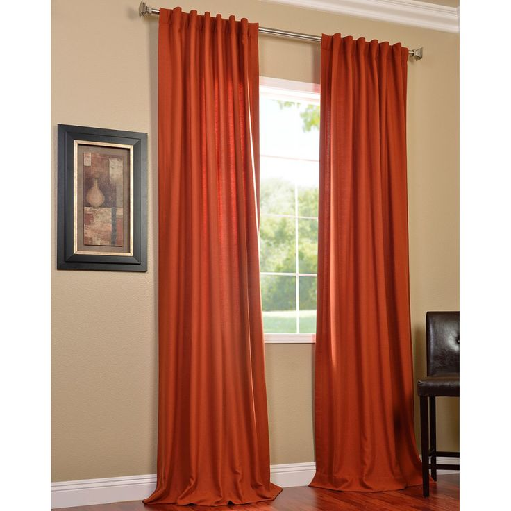 This polyester window curtain panel provides excellent weight and ...