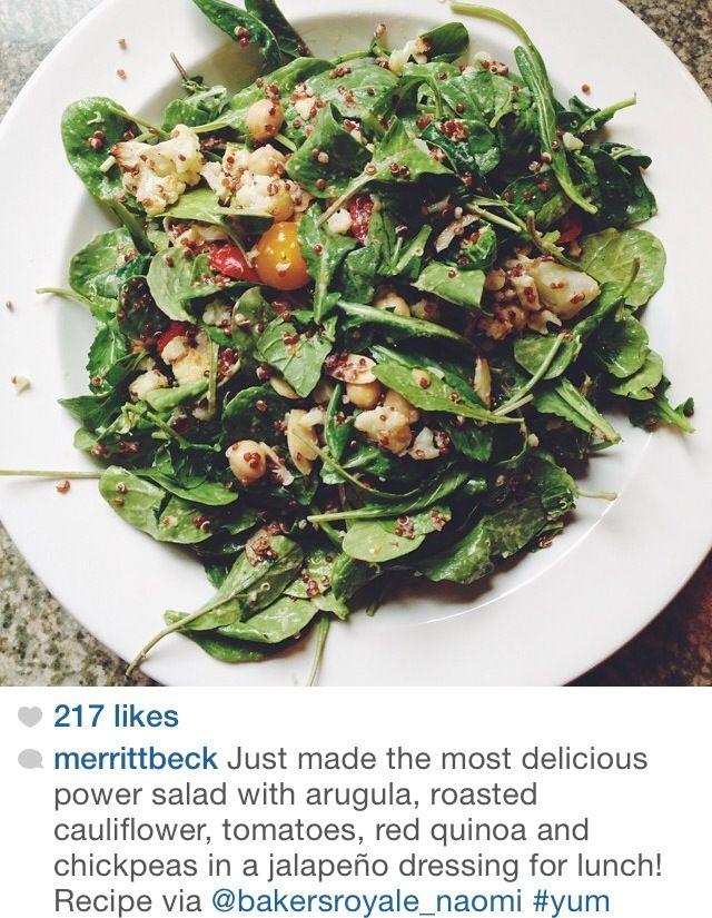 Red Quinoa Salad With Cauliflower And Walnuts Recipe — Dishmaps