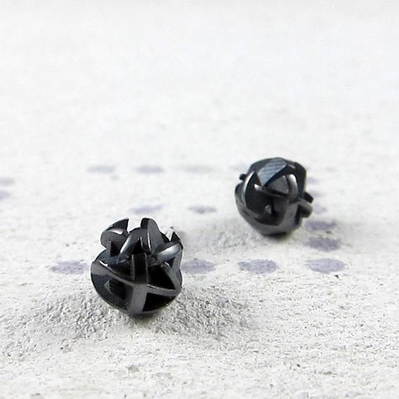 Negative/Positive earrings, oxidised sterling silver by FairinaCheng, www.facebook.com/fairinachengjewellery