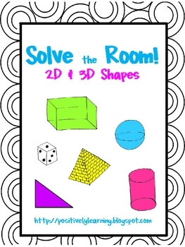 Here's an activity designed to help your students practice identifying 2D and 3D shapes! Cards are to be placed around the room ... could make my own