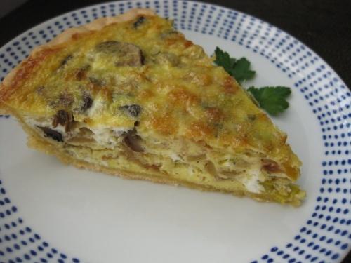 Leek and Mushroom Quiche | Savory Recipes | Pinterest