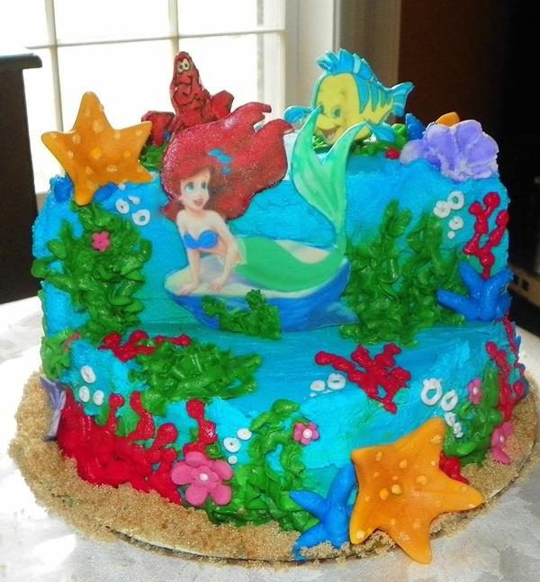 disney little mermaid cake ideas