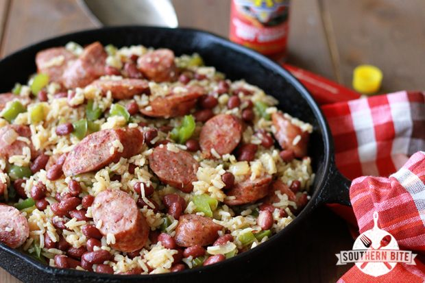 One-Pot Red Beans and Rice-from Southern Bite (uses canned red beans ...