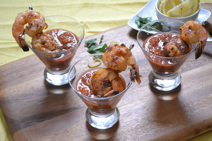 Grilled Shrimp Gazpacho | PICADAS,ADEREZOS,SALSAS!!!! | Pinterest