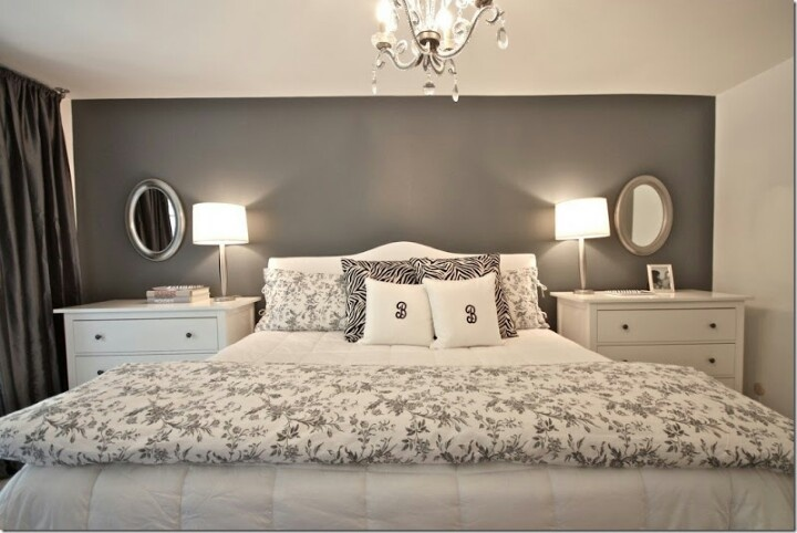 Gray Accent Wall Bedroom Ideas Pinterest