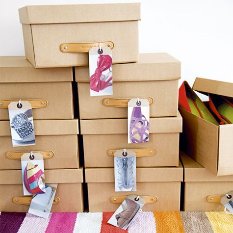 Organizador: sapatos - tags externas nas caixas dos shoes #asapegadas