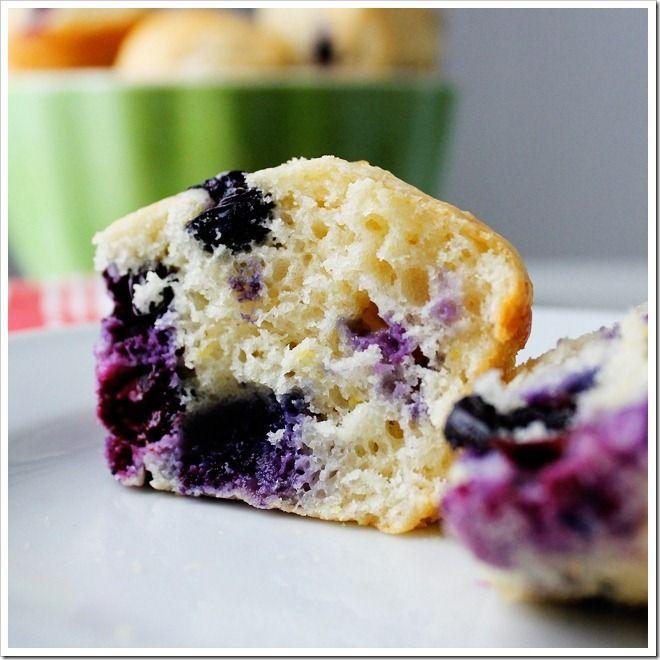 Blueberry Lemon (Greek Yogurt) Muffins | breakfast | Pinterest