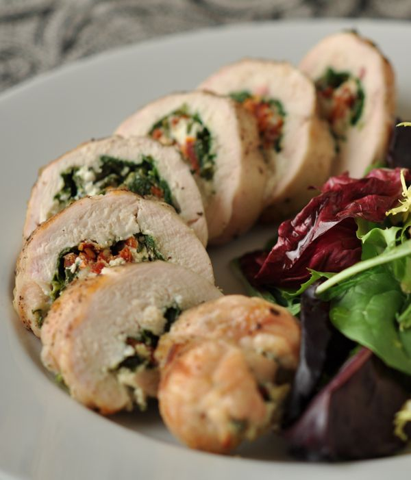 Grilled Chicken Breast Stuffed with Spinach, Sun-dried Tomatoes, and ...
