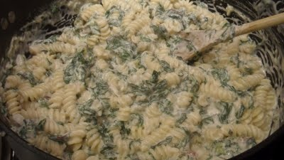 Creamed Chard and Spring Onion Pasta #vegetarian