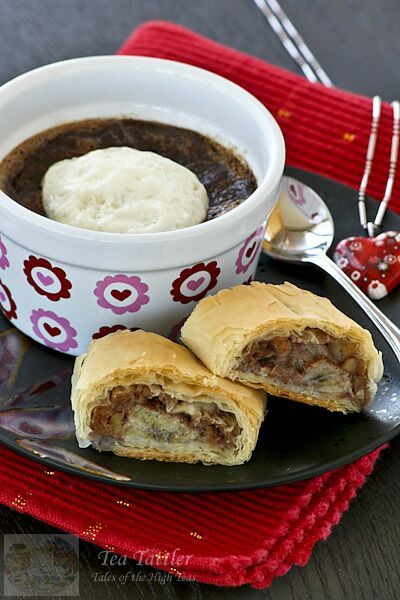 Baked Hot Chocolate and Banana Strudel | Sweets | Pinterest