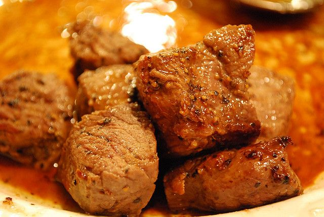 Steak bites by yourhomebasedmom, via Flickr