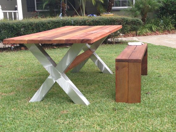 Backyard Table Match : IndoorOutdoor PatioPicnic Table with Matching by TheCollectionG