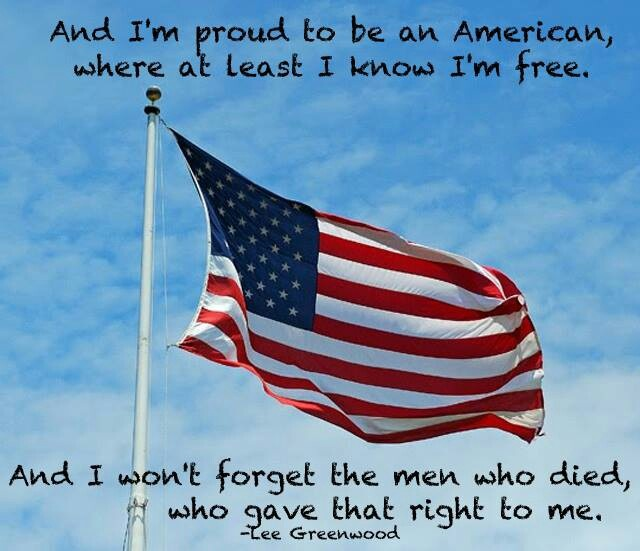 Proud to be an american lee greenwood