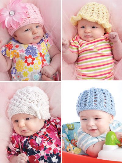 Knitting Patterns For Babies Beginners : Knit Beginner Baby Hats Pattern Getting Knitty With It! Pinterest