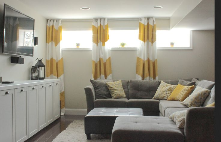 Basement curtains basement window pinterest - Basement curtain ideas ...