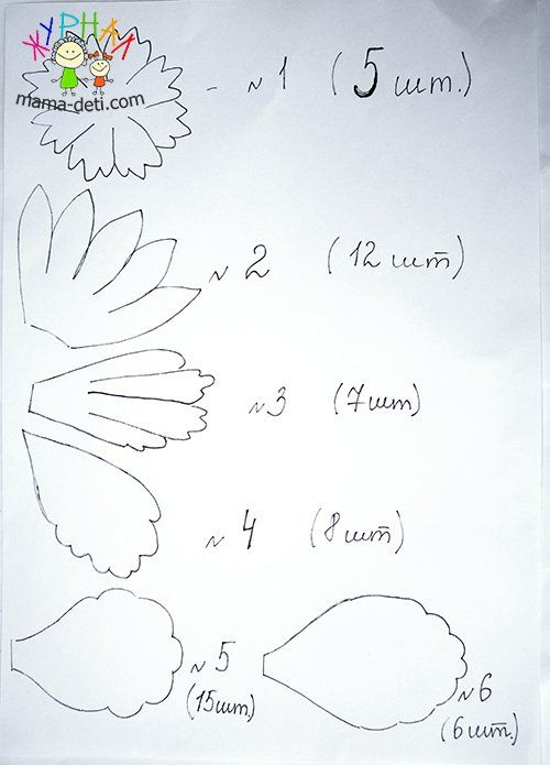 Как сделать пион из фоамирана