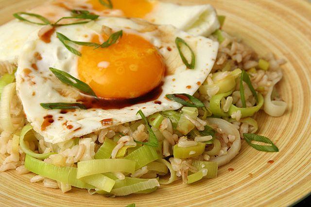 ginger fried rice | Vegetarian Recipes | Pinterest