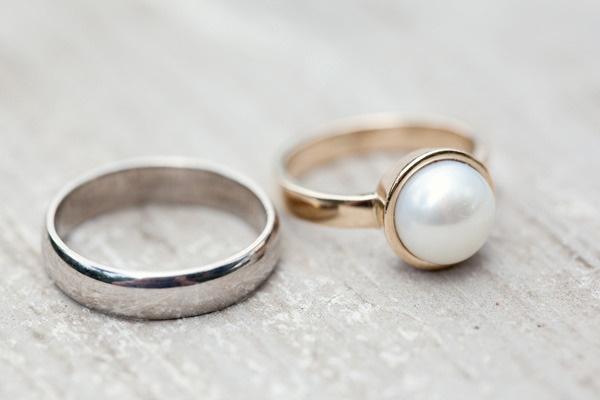 pearl wedding ring