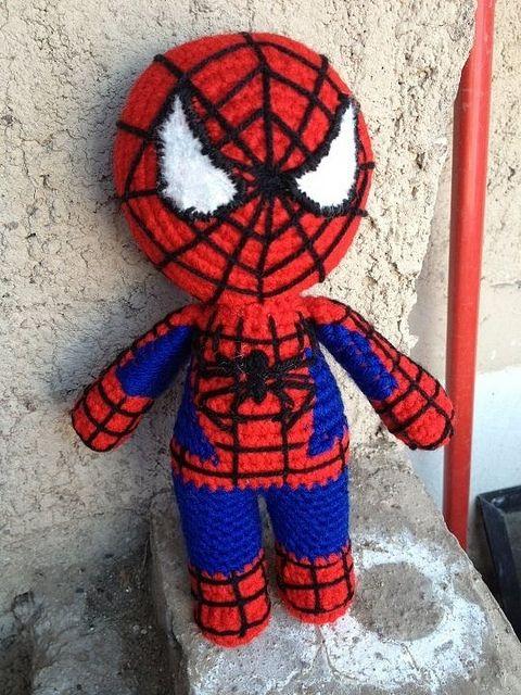 Free Amigurumi Spiderman Pattern : Spiderman Crochet / knit cartoon/book heroes Pinterest