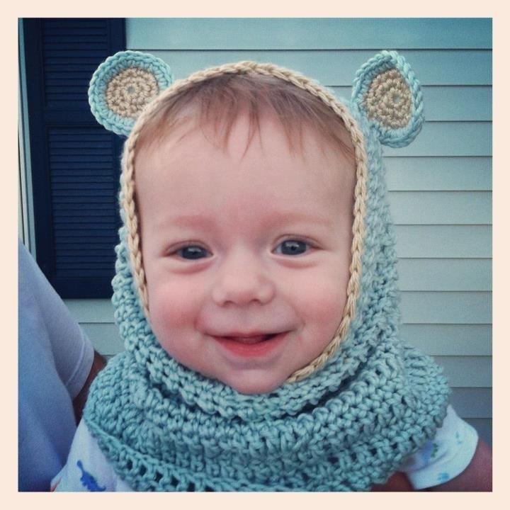 Crochet Baby Bear Cowl Pattern : Crochet baby bear cowl Crochet Pinterest
