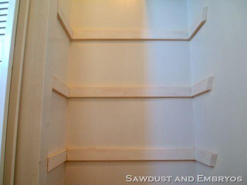 Diy Custom Closet Shelving Pantry Pantry Ideas Pinterest