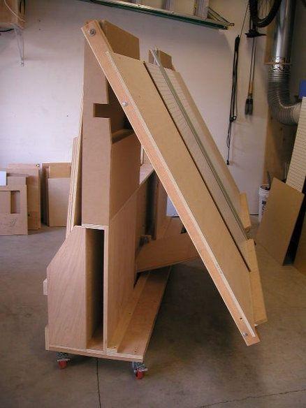 lumber storage and panel saw | Lumber Storage | Pinterest