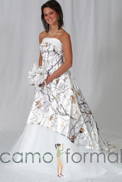 Wedding Dresses In White And Camo 48