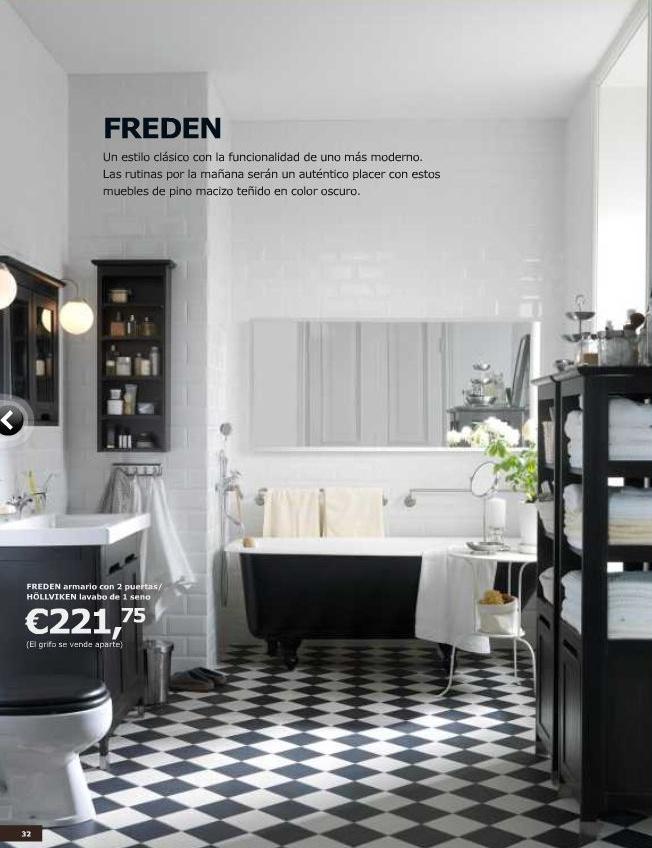 Reforma Baño Rustico:BAÑO_IKEA_BLANCO_Y_NEGRO