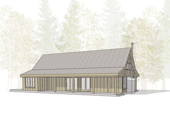 A t shaped barn inspired farmhouse where everything for Barn shaped garage