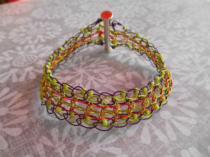 Crochet Jewelry Tutorial : Wire Crochet Bracelet Tutorial Crafty Pinterest