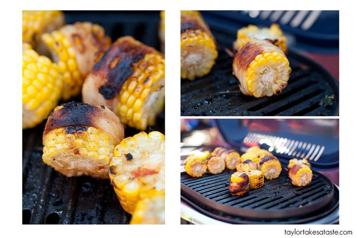 Bacon-wrapped grilled corn on the cob | Grilled Goods | Pinterest