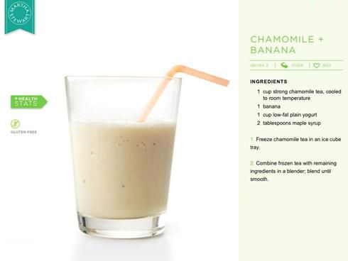 Chamomile Banana Smoothie | Food - Chemical free & live food living ...