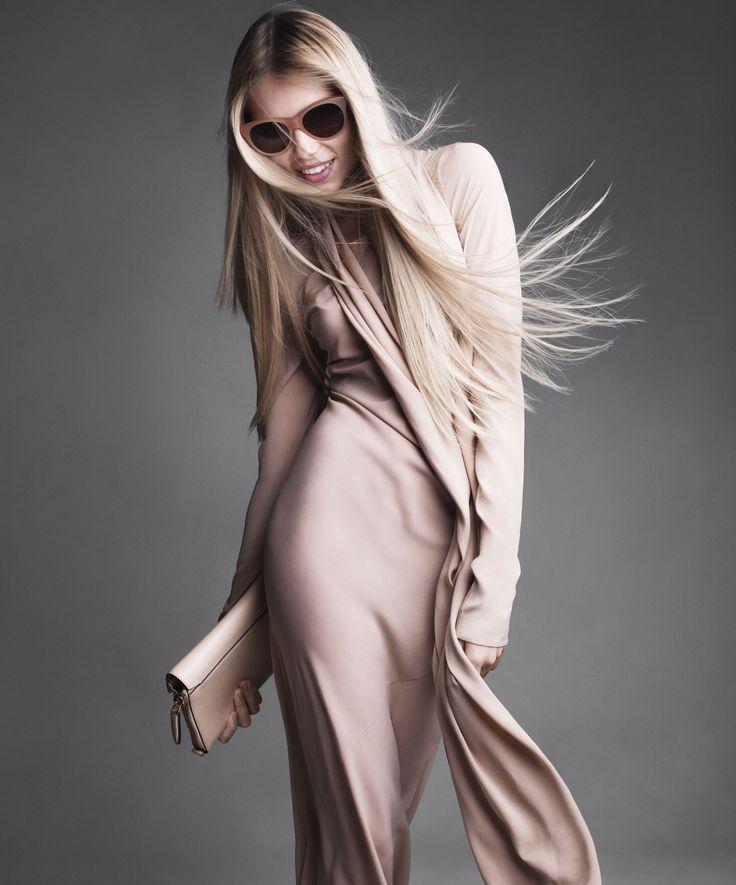 Work The Look  Vika Falileeva by Victor Demarchelier for US Harper's Bazaar