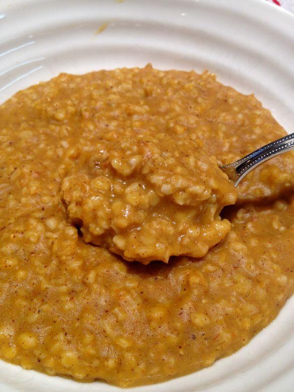 Pumpkin steel cut oats | WW PP | Pinterest