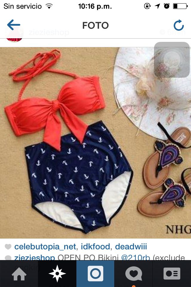 Traje de baño pin up  ropa de verano  Pinterest