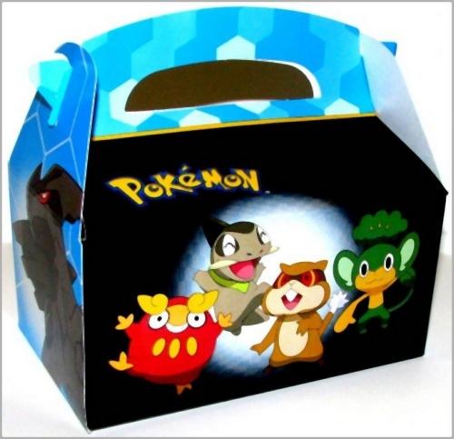 Black Treat Favor Boxes : Pokemon black white treat boxes home decor ideas