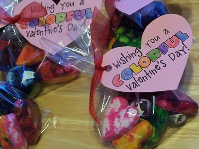 melted crayon hearts for valentines day