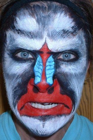 Monkey face makeup - photo#26
