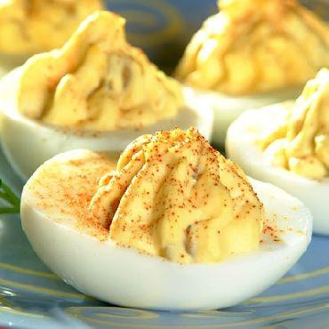 Green Chile Deviled Eggs | Side Sensaations | Pinterest