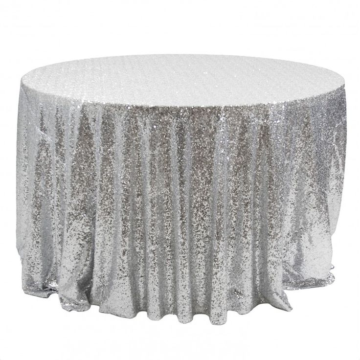 Sequin round tablecloth 120 for Tablecloth 52 x 120