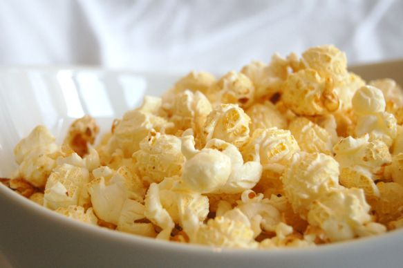 Kettle Corn - makes about 4 cups popped popcorn 3 Tbsp oil 3 Tbsp ...