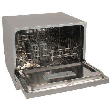 Countertop Dishwasher Silver : ... Countertop Portable Dishwasher - Silver : Dish Washer : Appliances