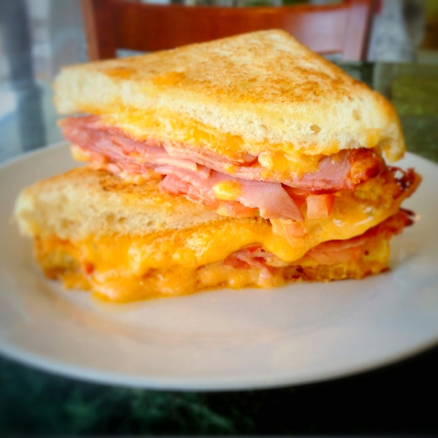 Grilled pimento cheese and ham sandwich! Seriously the best thing ever ...