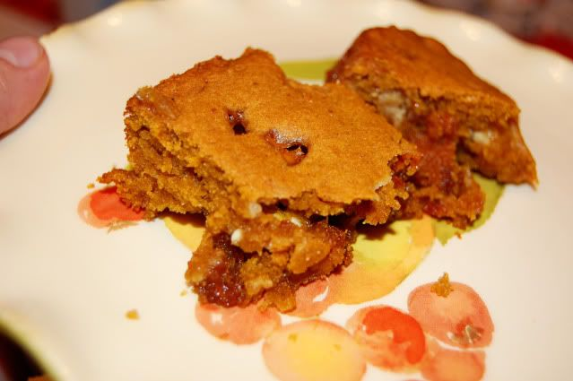 Pumpkin Blondies...I think I will use semi-sweet chocolate chips ...