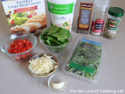 ... Panko Crusted Chicken Stuffed with Ricotta, Spinach, Tomatoes, and