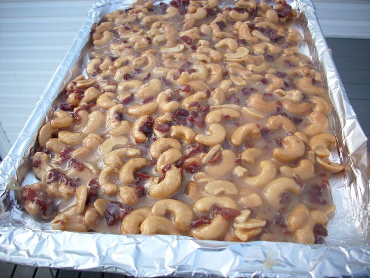 ... brittle recipe at Martha Stewart's site, but used Cashews and added