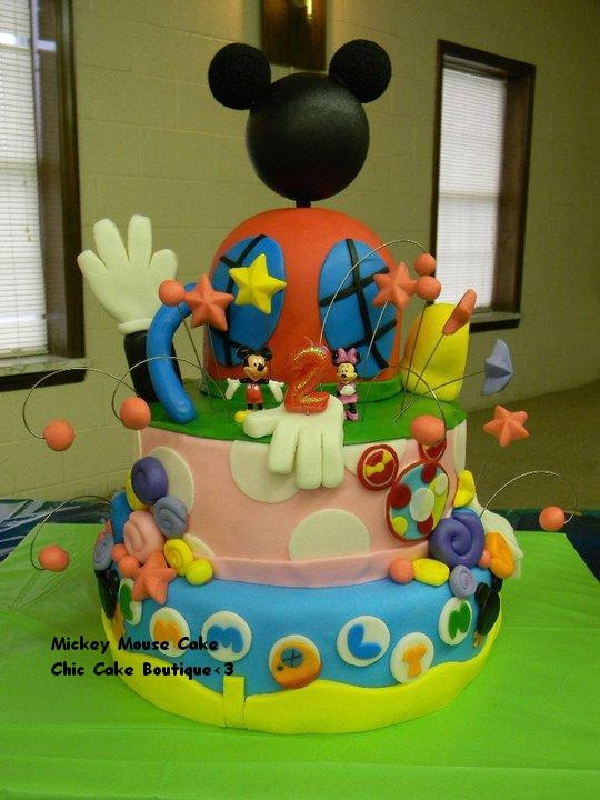 Mickey Mouse Cake Party Ideas Pinterest