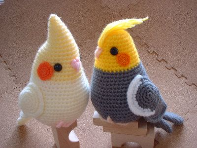 Crochet Amigurumi Birds : crochet cockatiel amigurumi ?????????? Birds Pinterest
