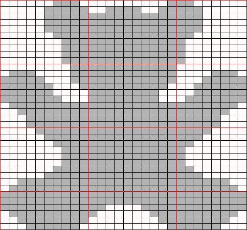 bear motif chart Knitting: Charts and motifs Pinterest